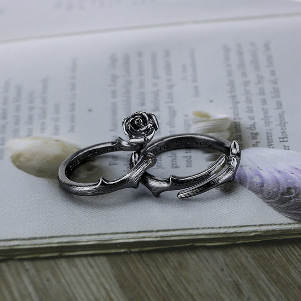 Handmade Sterling Silver Couple Rings Lovers Rings Jewelry Accessories Women Men adorable