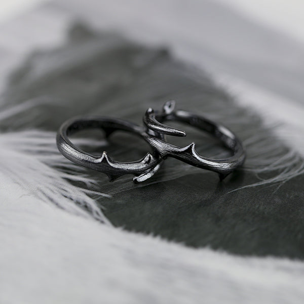 Handmade Sterling Silver Couple Rings Lovers Rings Jewelry Accessories Women Men