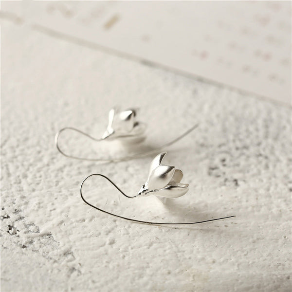 Handmade Sterling Silver Hook Dangle Earrings Jewelry Accessories Gifts For Women
