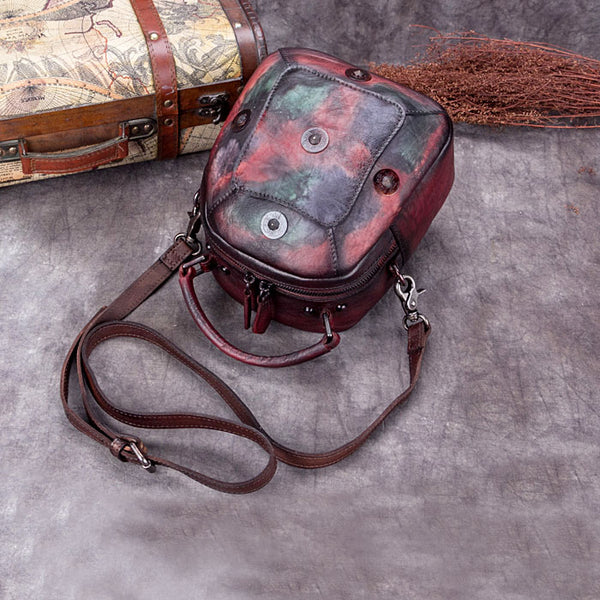Handmade Vintage Genuine Leather Handbag Crossbody Shoulder Bags Purses Women