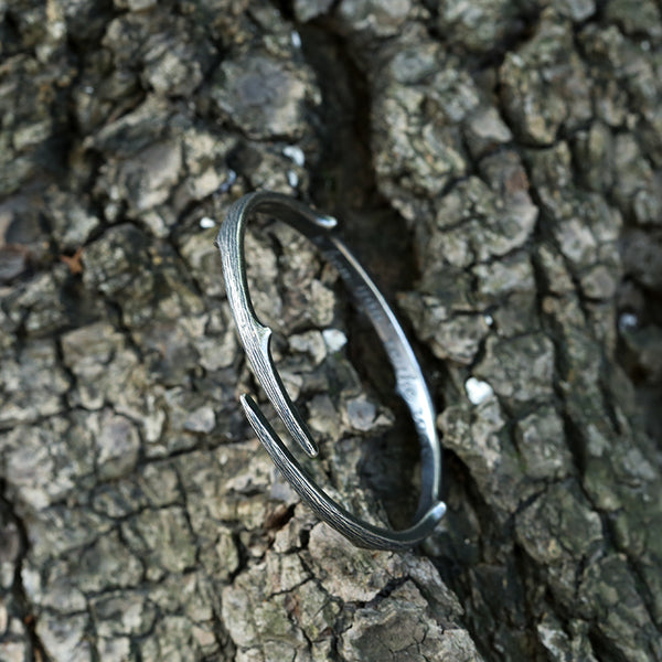 Handmade Vintage Sterling Silver Bangle Bracelets Unique Jewelry Accessories Gifts For Men and Women