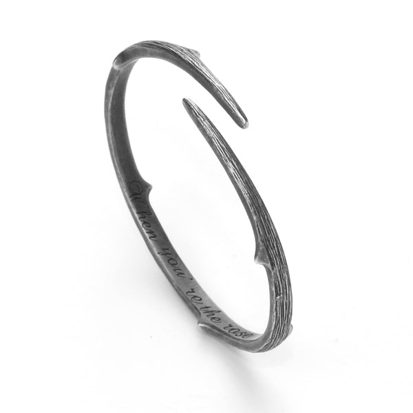 Handmade Vintage Sterling Silver Bangle Bracelets Unique Jewelry Accessories Gifts Women chic