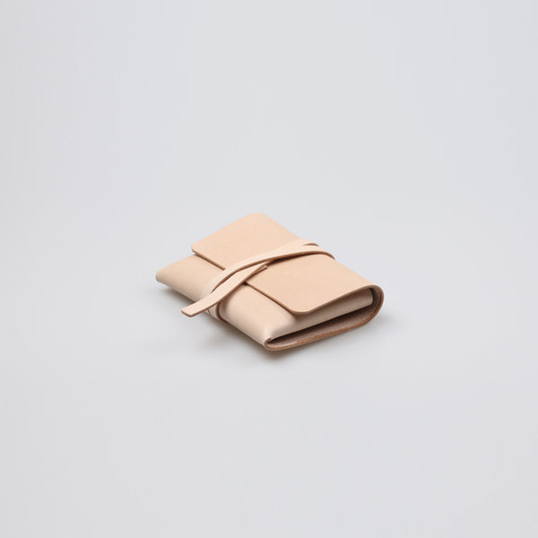 Handmade Womens Beige Small Leather Wallets Coin Purse for Women Accessories