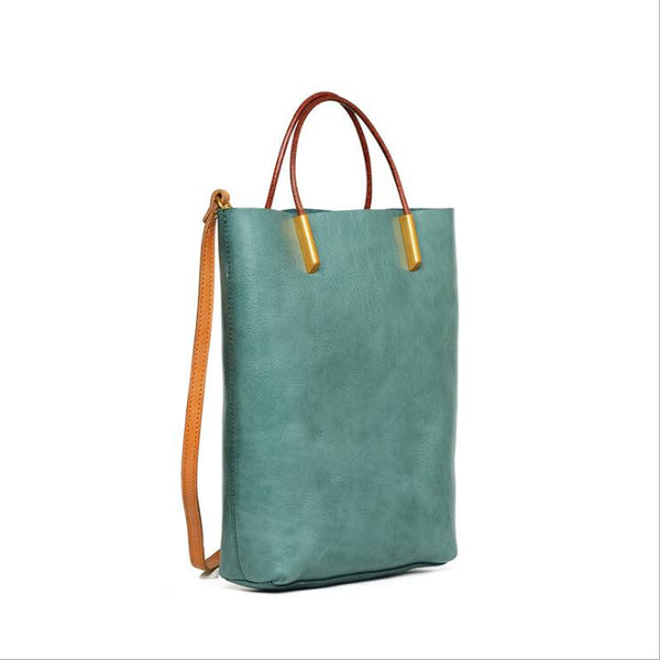 Handmade Womens Leather Work Tote Bag Handbags For Women Affordable