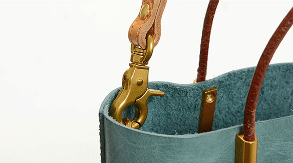 Handmade Womens Leather Work Tote Bag Handbags For Women