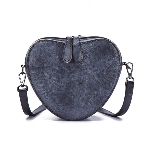 Heart Shaped Women Leather Crossbody Bags Purse Shoulder Bag for Women Boutique