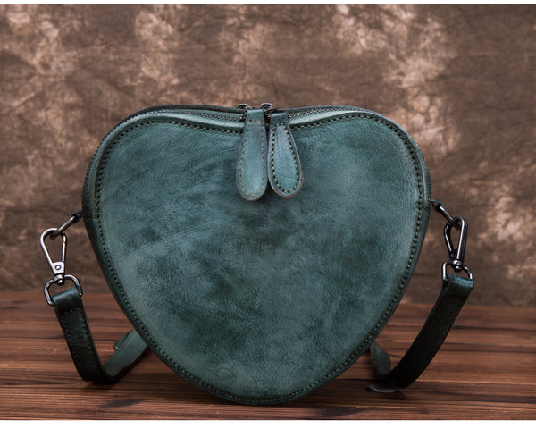 Heart Shaped Women Leather Crossbody Bags Purse Shoulder Bag for Women Unique