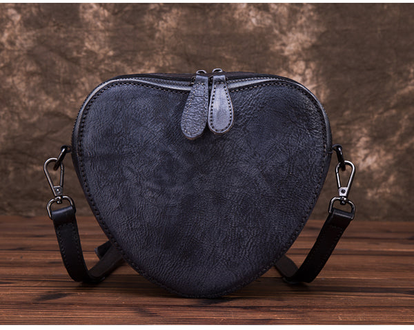 Heart Shaped Women Leather Crossbody Bags Purse Shoulder Bag for Women Unique 2