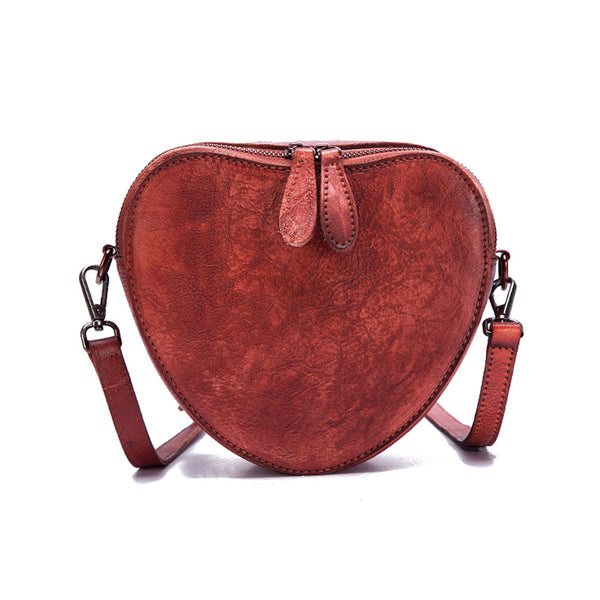 Heart Shaped Women Leather Crossbody Bags Purse Shoulder Bag for Women beautiful