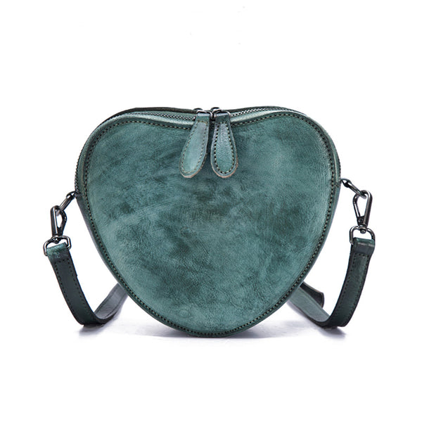 Heart Shaped Women Leather Crossbody Bags Purse Shoulder Bag for Women cool