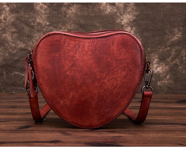 Heart Shaped Women Leather Crossbody Bags Purse Shoulder Bag for Women gift