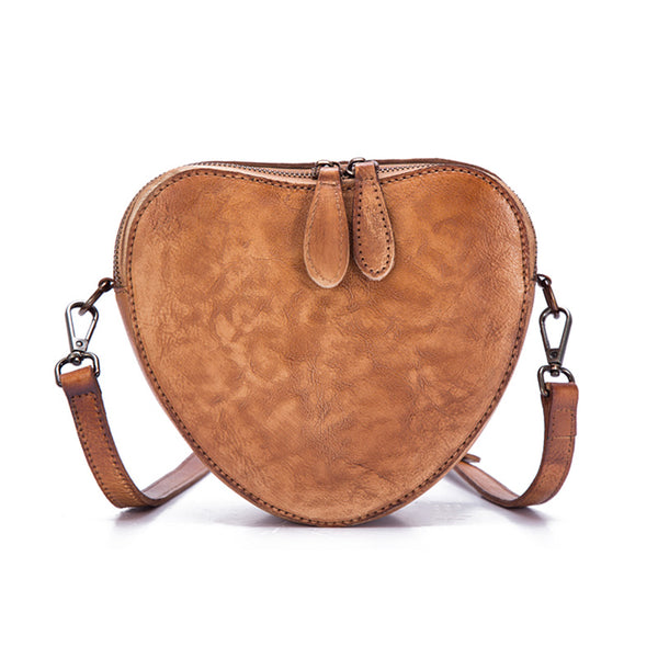 Heart Shaped Women Leather Crossbody Bags Purse Shoulder Bag for Women