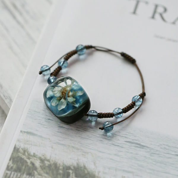 Herbage Resin Bracelet Unique Handmade Jewelry Accessories Gifts Women adorable