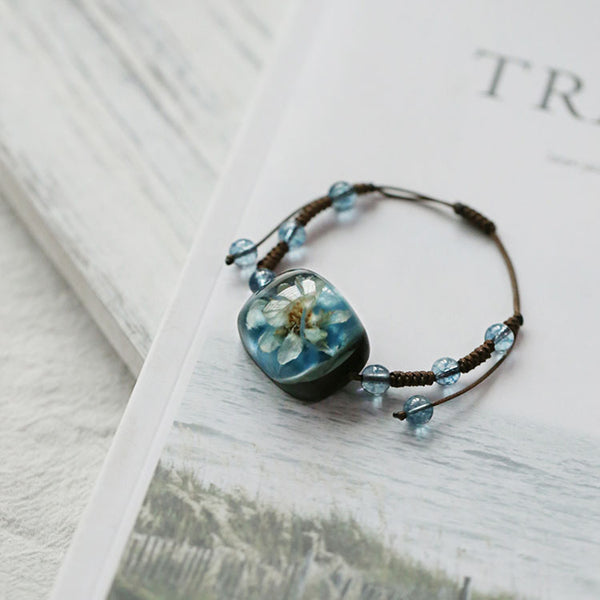 Herbage Resin Bracelet Unique Handmade Jewelry Accessories Gifts Women cute