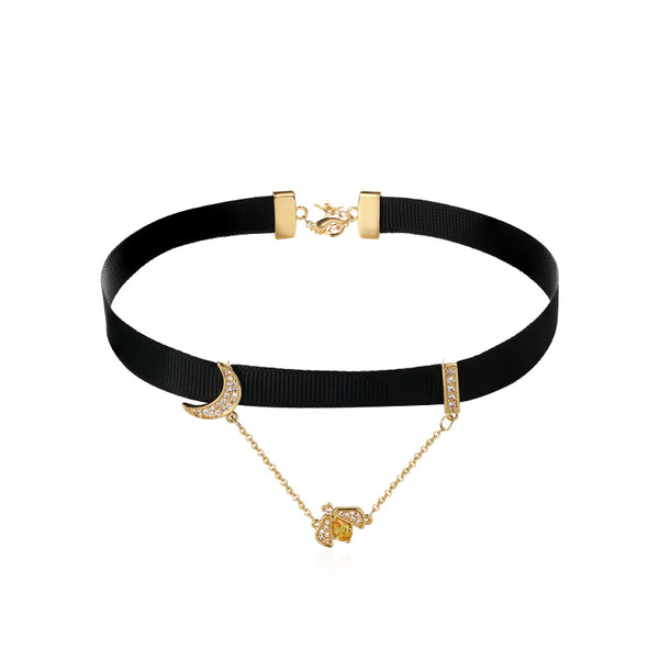 Honey Bee Choker Necklace Fashion Jewelry Accessories Gift for Women