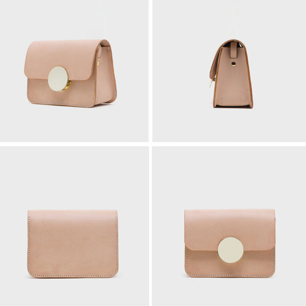 Ladies Cube Bag Leather Crossbody Bags Shoulder Bag Purses for Women Details