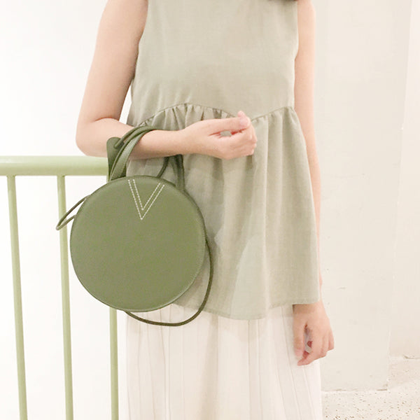 Ladies Cute Leather Crossbody Bags Circle Bag Shoulder Bags for Women beautiful