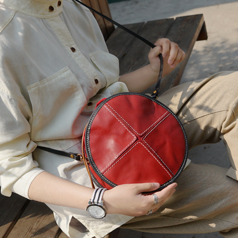Ladies Leather Circle Bag