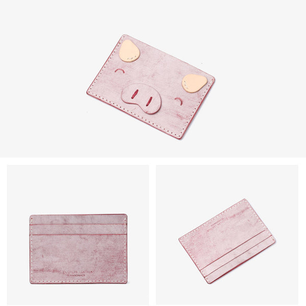 Ladies Small Leather Card Holder Wallet Cute Wallets for Women Genuine Leather