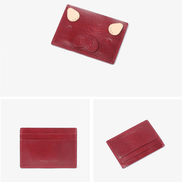 Ladies Small Leather Card Holder Wallet Cute Wallets for Women Handmade