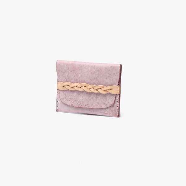 Ladies Small Leather Credit Card Holder Wallet Slim Wallets for Women Handmade