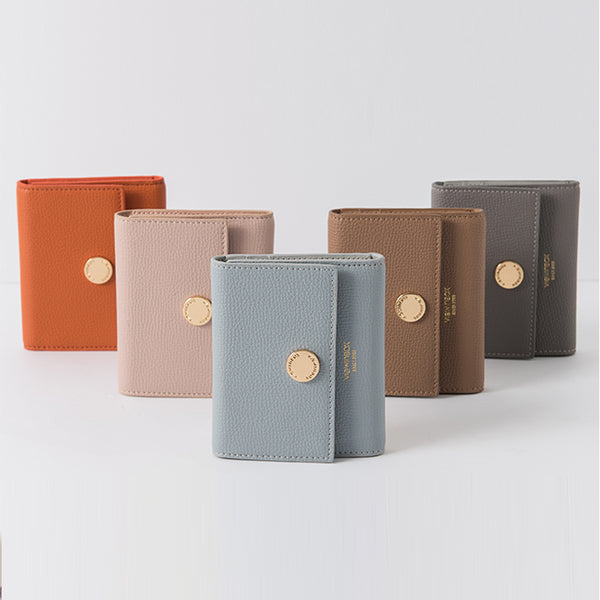 Ladies Small Leather Wallet Purse Short Leather Wallets for Women
