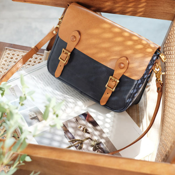 Ladies Vintage Leather Crossbody Satchel Purse Messenger Bag For Women Beautiful