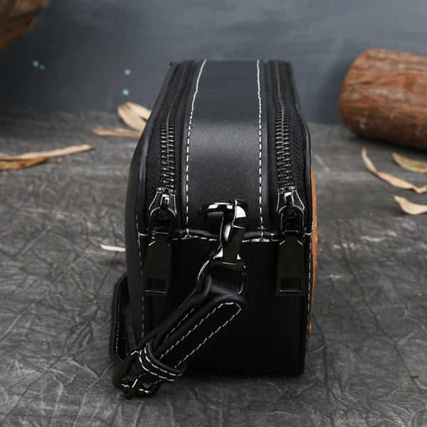 Ladies Vintage Tooled Leather Crossbody Bag Side Bags For Women Nice