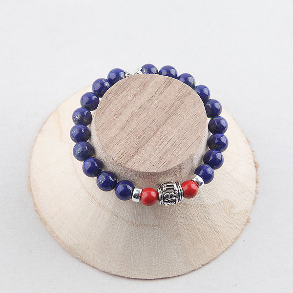 Lapis Lazuli Beads Bracelets December Birthstone Gemstone Jewelry Accessories for Women beautiful