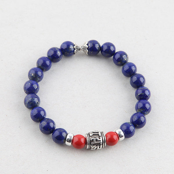 Lapis Lazuli Beads Bracelets December Birthstone Gemstone Jewelry Accessories for Women