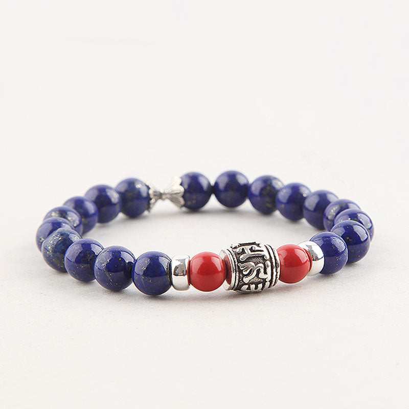 Lapis Lazuli Beads Bracelets December Birthstone Gemstone Jewelry Accessories for Women chic