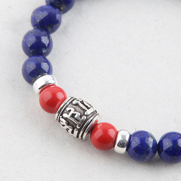 Lapis Lazuli Beads Bracelets December Birthstone Gemstone Jewelry Accessories for Women cute