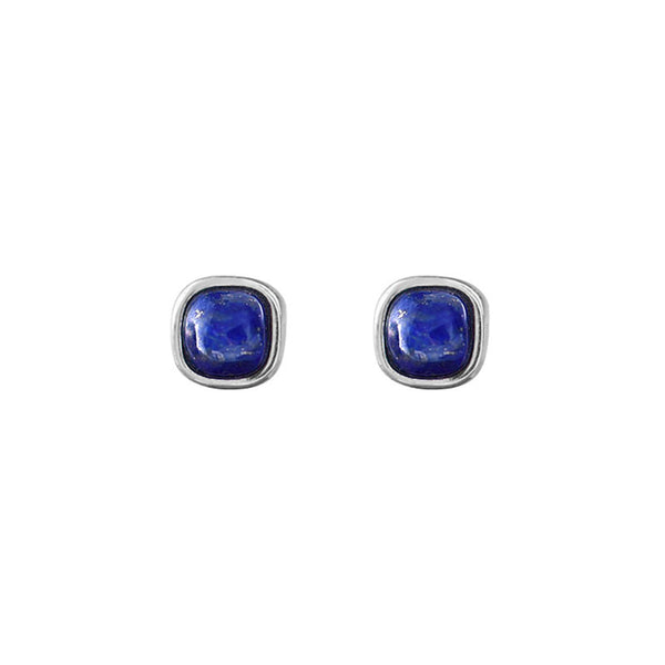 Lapis Lazuli Stud Earrings Sterling Silver Jewelry Accessories Gifts Women chic