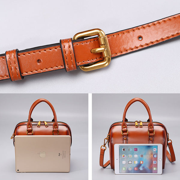 Leather Boston Bag Womens Handbags Crossbody Bags Purses for Women cool