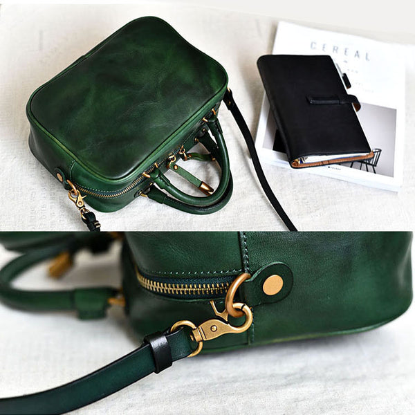 Leather Small Over the Shoulder Purse Bags Crossbody Handbags for Ladies cowhide