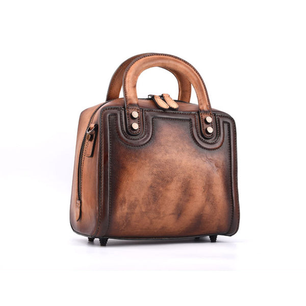 Leather Women Cube Bag Leather Handbags Crossbody Bags for Women Accessories