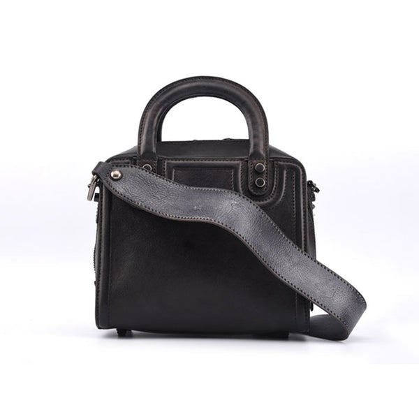 Leather Women Cube Bag Leather Handbags Crossbody Bags for Women Genuine Leather