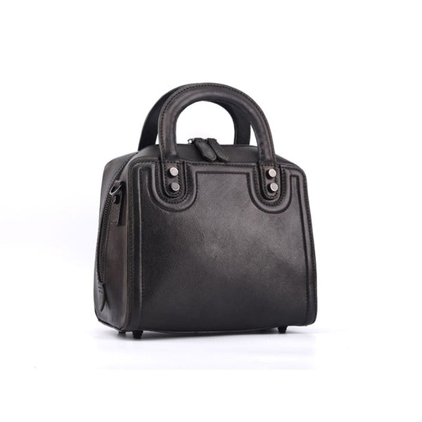 Leather Women Cube Bag Leather Handbags Crossbody Bags for Women cool