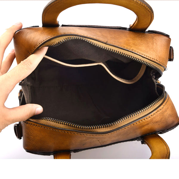 Leather Women Cube Bag Leather Handbags Crossbody Bags for Women gift