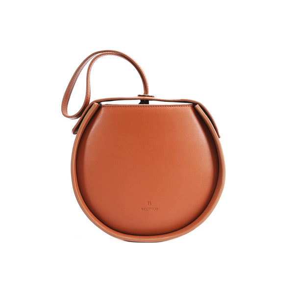 Leather Womens Circle Handbags Small Leather Crossbody Bags Purse Accessories
