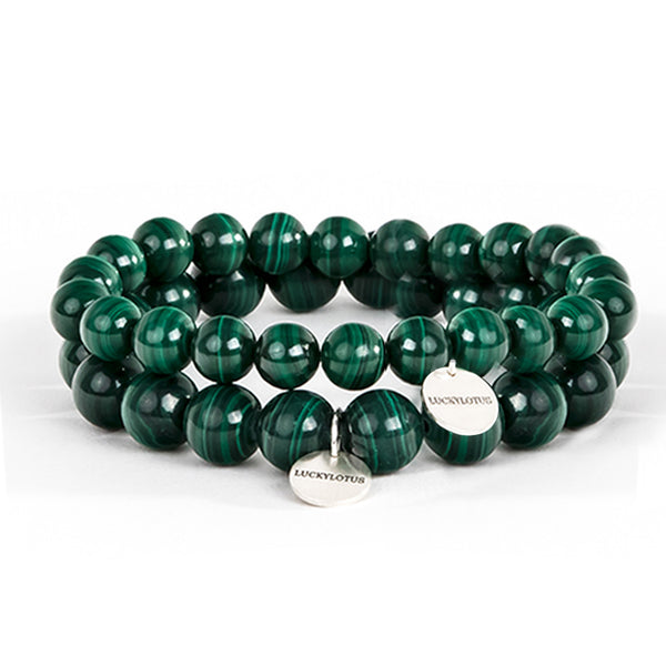 Malachite Bead Silver Bracelet Handmade Gemstone Jewelry Accessories Women Men beautiful