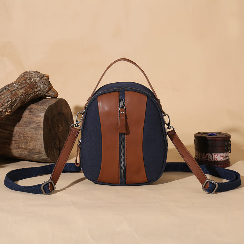 Medium Canvas Rucksack Trendy Zip Backpack Purse Laptop Backpacks for Women Affordable
