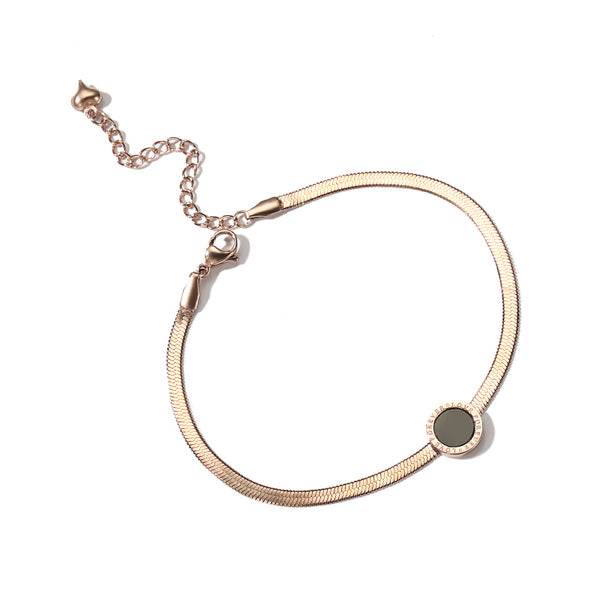 Minimalism Fashion Anklet Unique Gold Titanium Steel Jewelry Accessories Gift Women beautiful