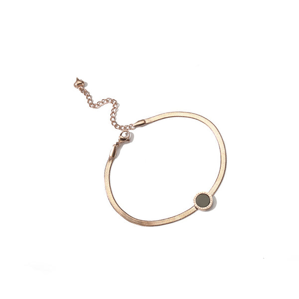 Minimalism Fashion Anklet Unique Gold Titanium Steel Jewelry Accessories Gift Women fashionable