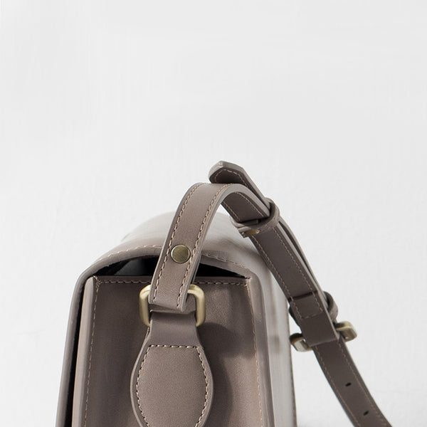 Minimalist Leather Women Satchel Bag Leather Crossbody Bags for Women Vintage