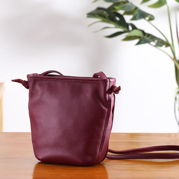 Minimalist Womens Leather Crossbody Bags Shoulder Bag for Women Genuine Leather