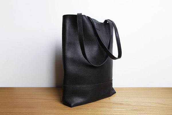 Minimalist Womens Leather Tote Bag Handbags Shoulder Bag for Women Unique