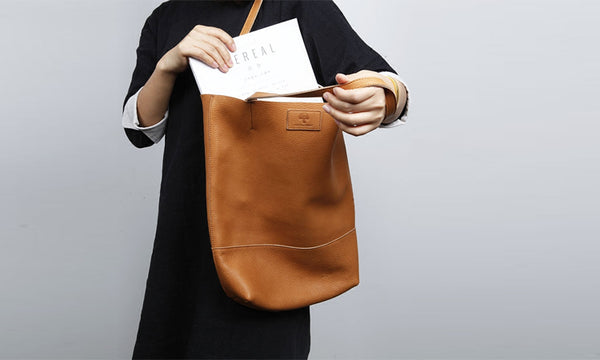 Minimalist Womens Leather Tote Bag Handbags Shoulder Bag for Women gift