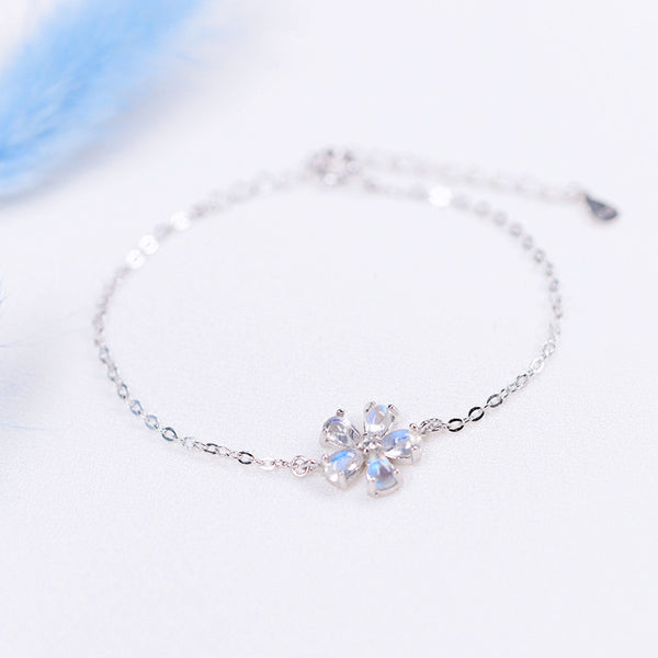 Moonstone Bracelets Silver Unique Jewelry Accessories Gift Women