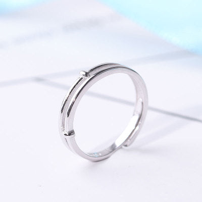 Moonstone Couple Rings Silver Lovers Jewelry Promise Rings Men
